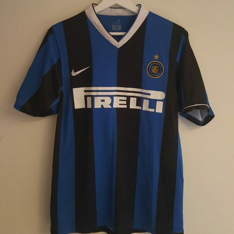 663c4bf23 Vintage Inter Milan 2006 7 home shirt. Near mint condition - Depop