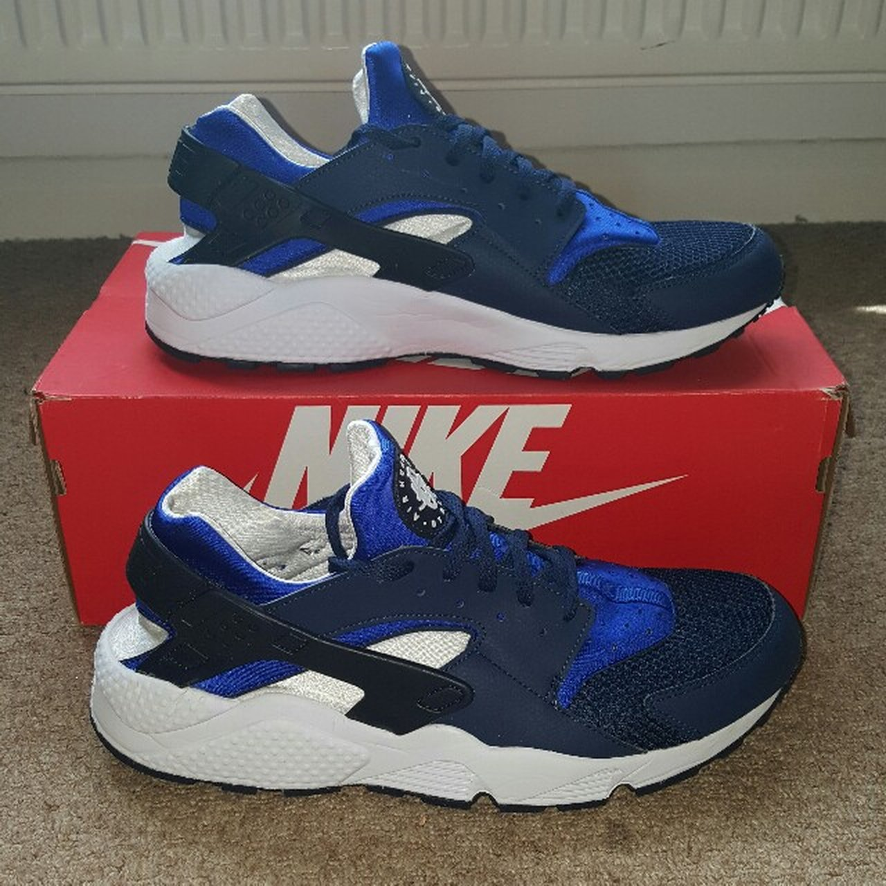 0b7fb900cde6 •Nike Air Huarache •Mens •Midnight Navy Lyon UK 12 (Best for - Depop