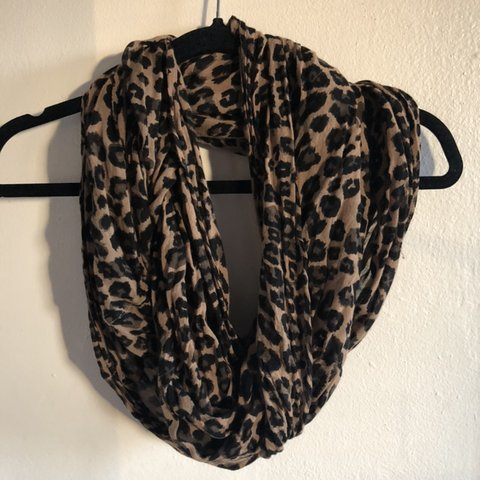 8ef4e8b7fd251 Cheetah print infinity scarf. Light fabric, better for used, - Depop