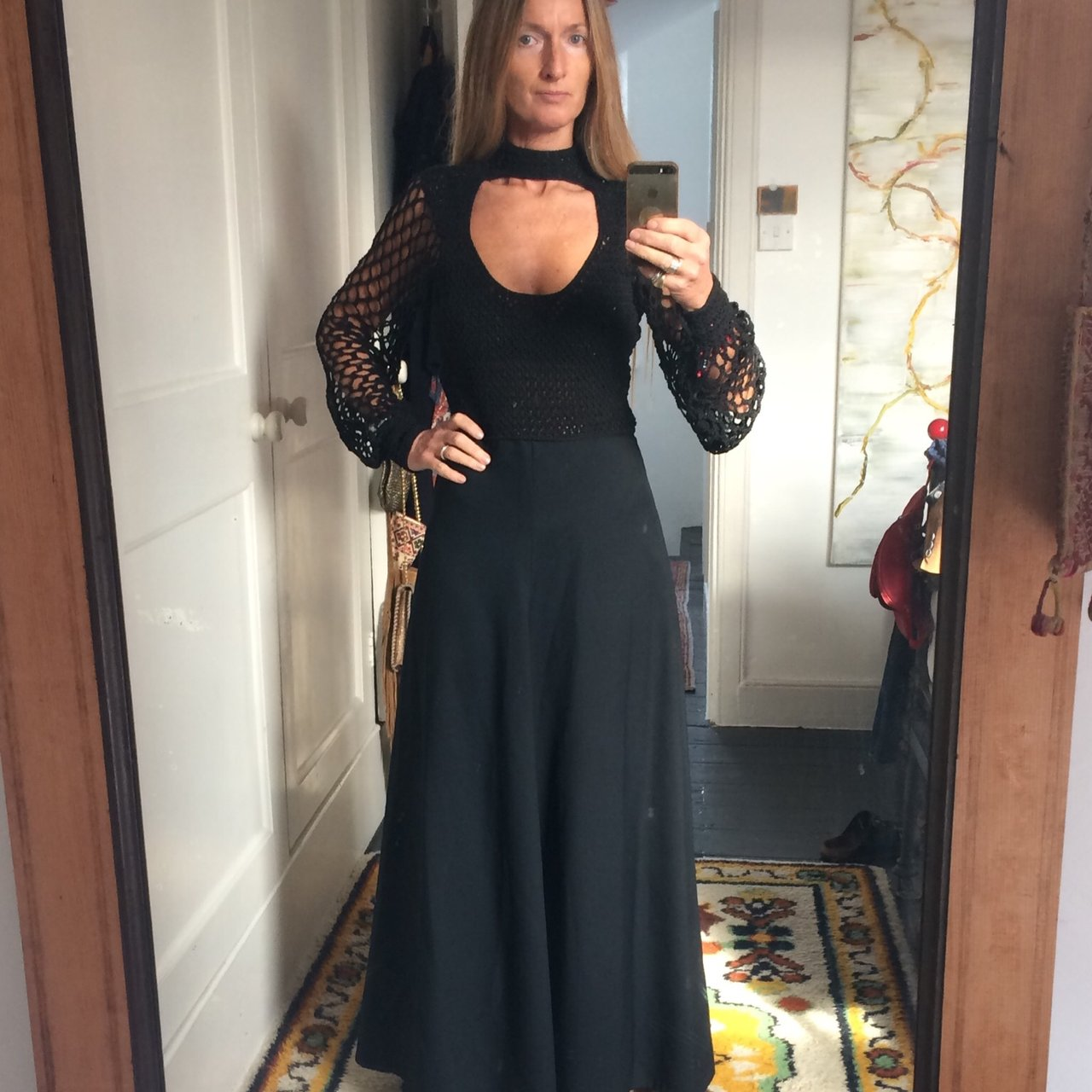1c0e9ebbfd2 Crochet Top Maxi Dress With Open Back - Gomes Weine AG