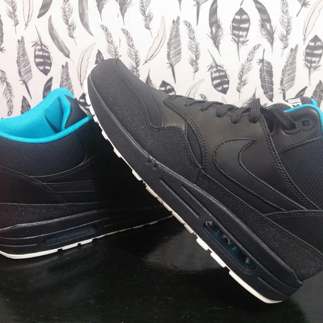 Nike Air Max 1 Mid FB Black & Neo Turquoise | END.