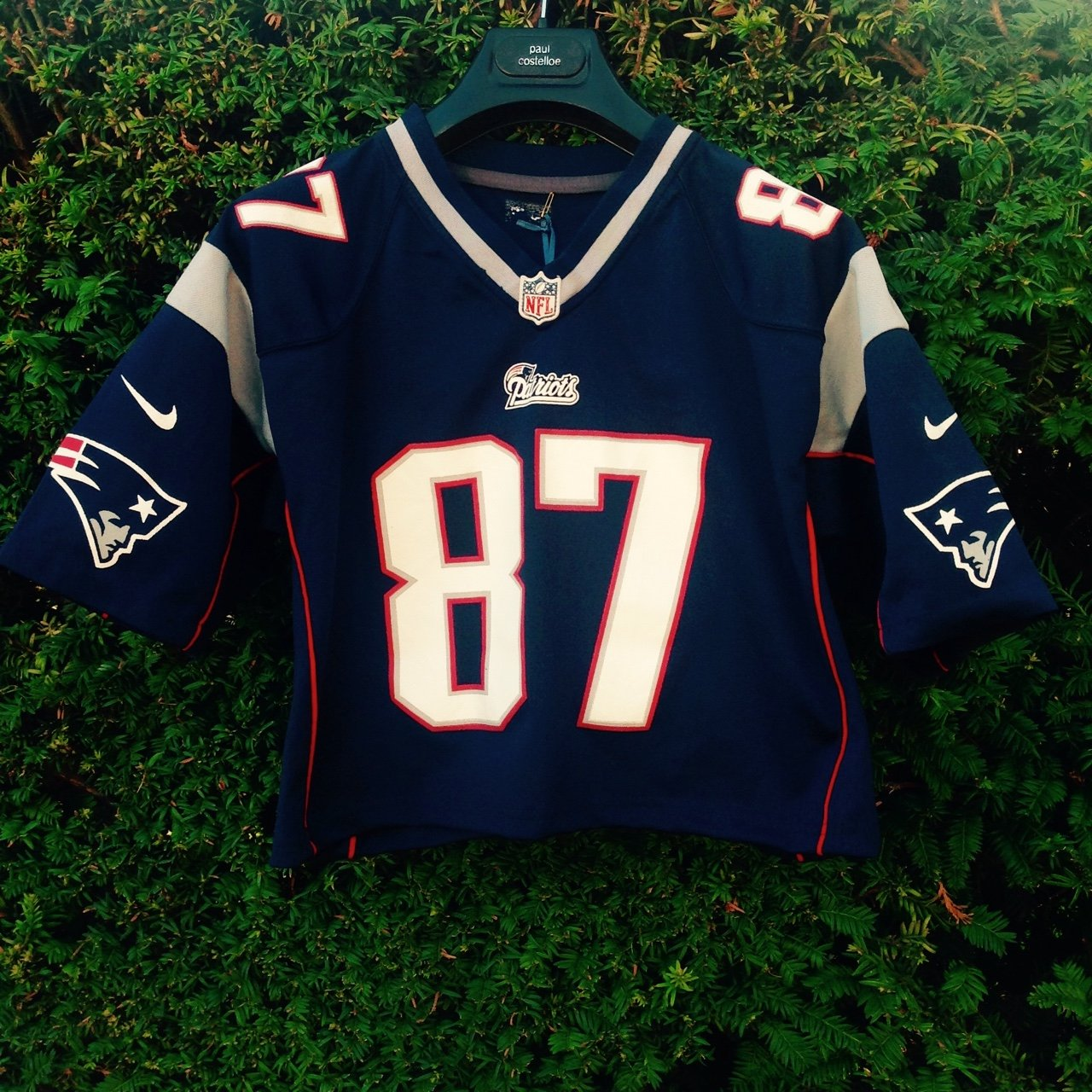 hatsandtees. 3 years ago. United Kingdom. Authentic Women s cropped NFL  Patriots Jersey ... 37182529f