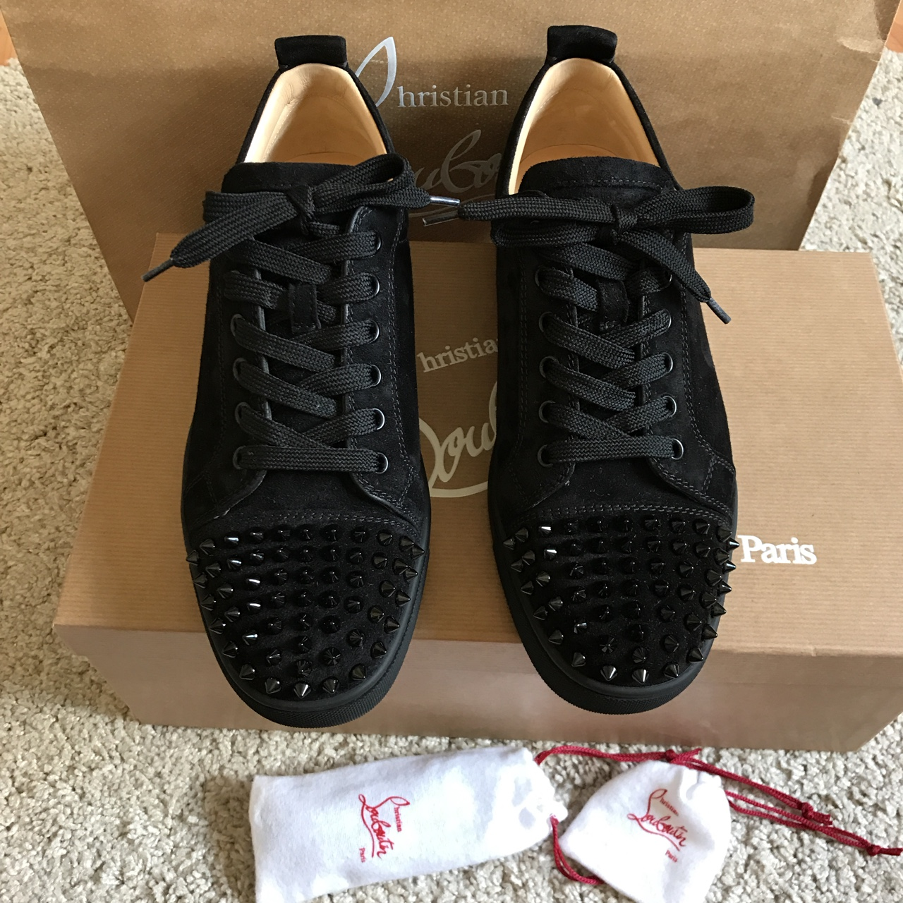 online store f2b3e bbd80 Christian Louboutin - MEN Louis Junior Spikes - Low... - Depop