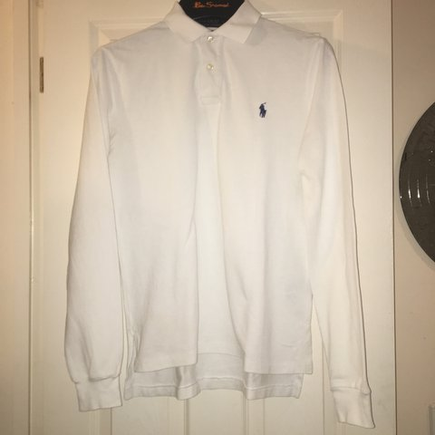 5bb82914 @jamiebradshaw1. 2 years ago. United Kingdom. Polo Ralph Lauren custom fit  long sleeve white ...