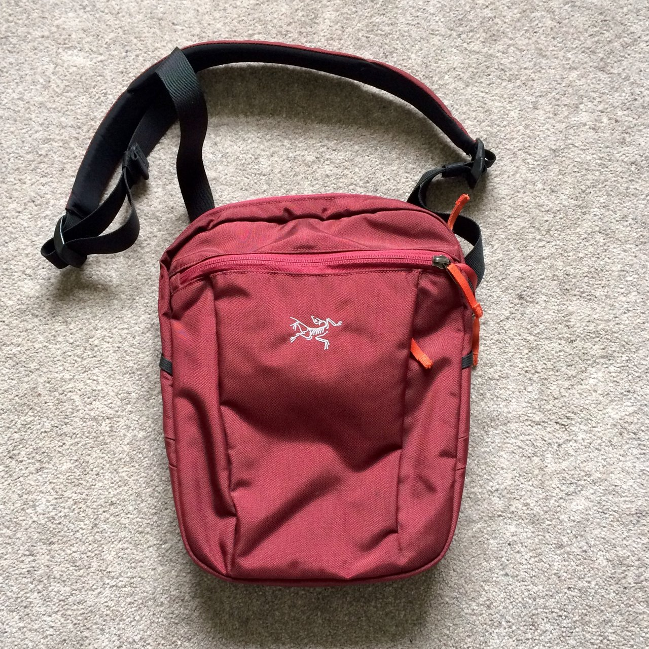 507bf8444d8f Red Arcteryx side bag - great condition only defect is small - Depop