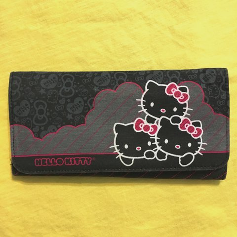 19de7243f Hello kitty wallet with a magnetic button clasp snap. 3 card - Depop