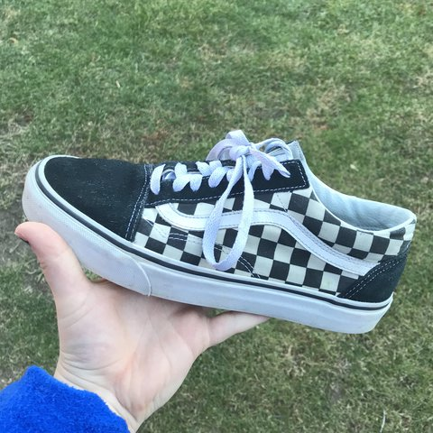 d19e93b0bb2fe @clairedrakulic. last year. Wauwatosa, United States. FREE SHIPPING!! Black  and White checkerboard old skool vans.