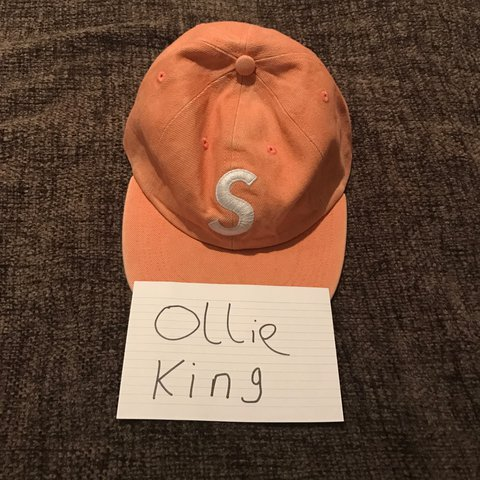 b58141dc Supreme S Logo Hat in peach. Bought today from the London me - Depop