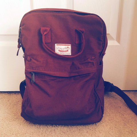 e7acb1f1df54 Burgundy book bag. Used once or twice, but still in great or - Depop