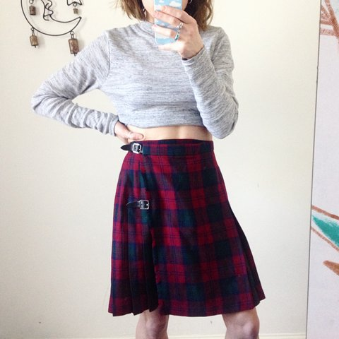 a00f600174 Really cute vintage 90s high waisted tartan kilt wrap mini a - Depop