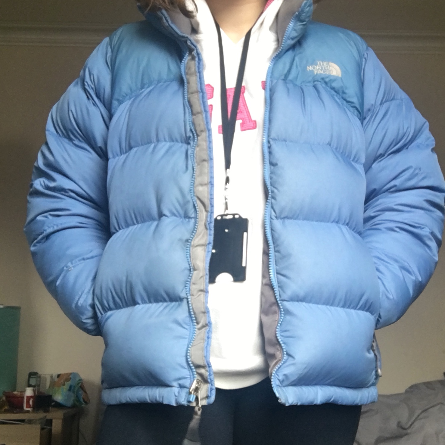RESERVED. The north face blue puffer 700 nutpse In Depop