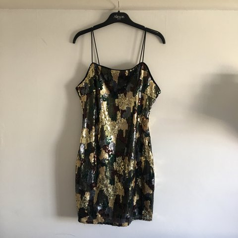 cdabcc6ff8613 Carli Babel X Missguided sequin camo dress • good condition - Depop