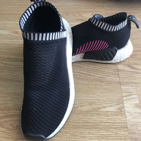 6325a679d Adidas NMD CS2 PINK 9 10 wore it a few times but not for it - Depop