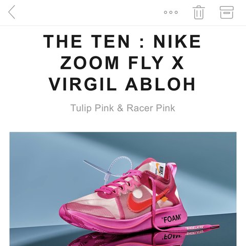 8e39e87861a9 Off white Virgil Abloh Nike Xoom fly pink the ten Wrong size - Depop