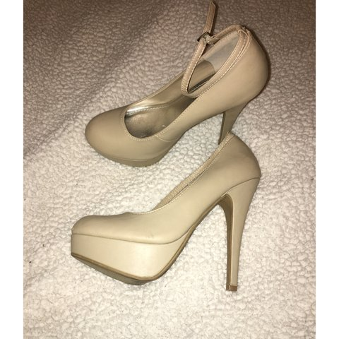 53332fd1ec8 Size 8 Nude heels with ankle strap. Ordered from urbanog.com - Depop