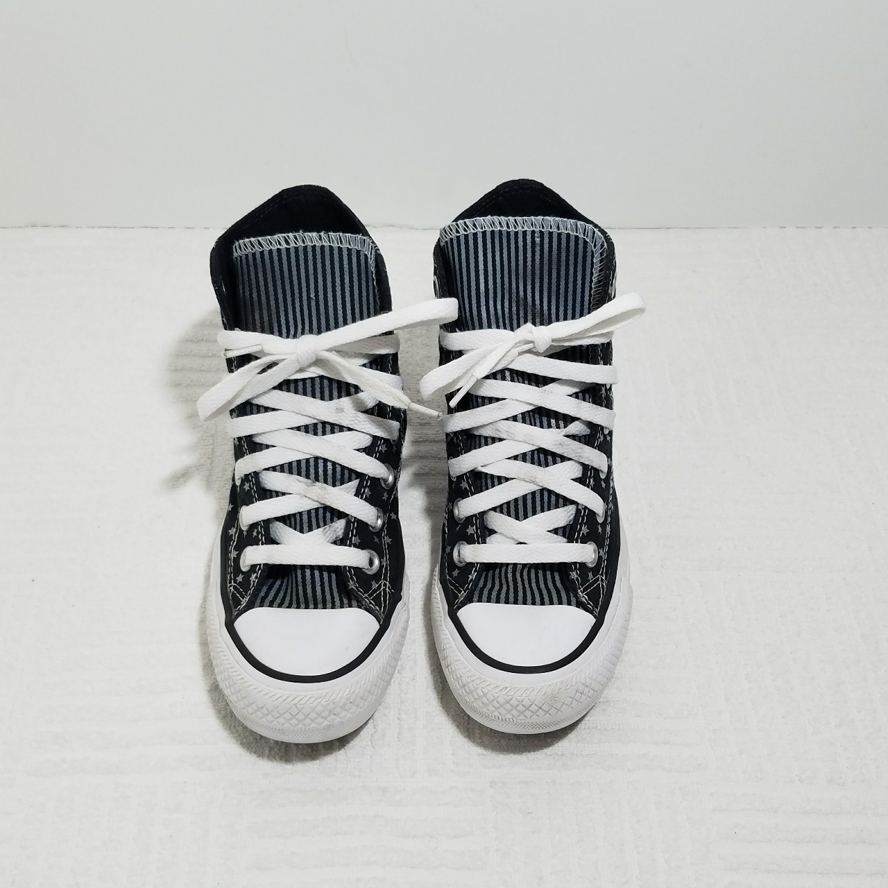 Converse All Star high tops black stars and stripes Depop
