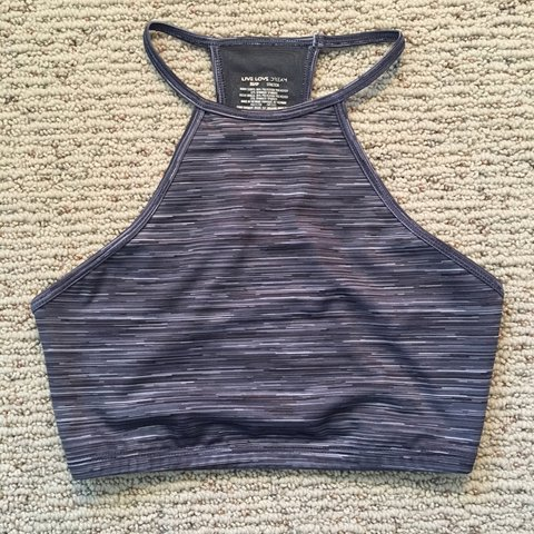 97dc46a5ce9d8 High neck sports bra from live love dream by Aeropostale! a - Depop