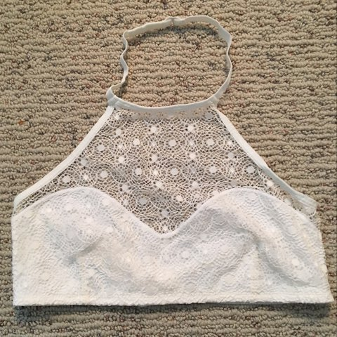 c609fd12c6 Aeropostale  aero halter bralette! NWT white in color and an - Depop