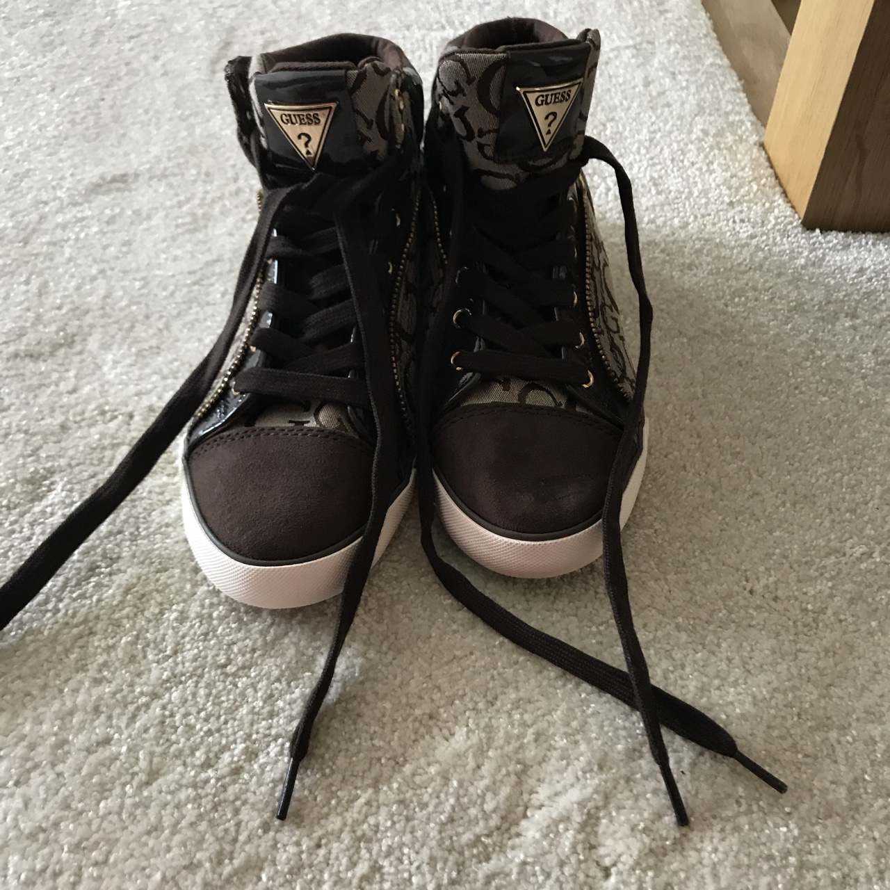 Guess high top trainers size 5 bought