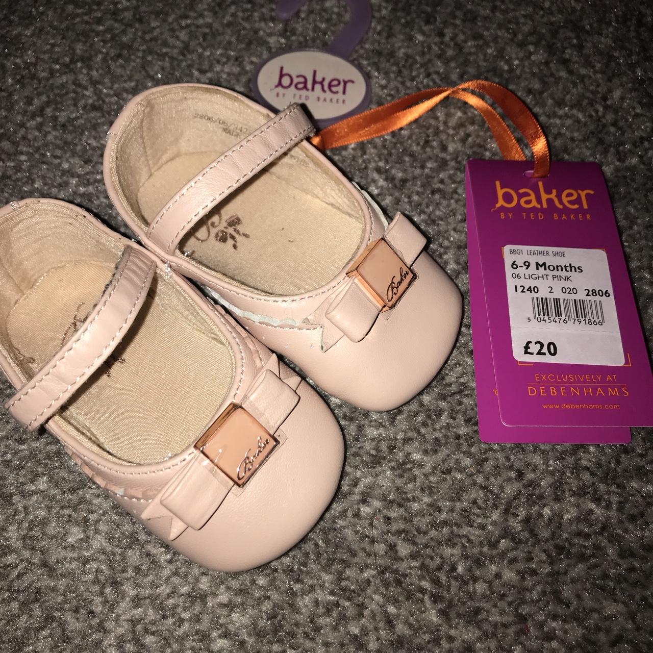Brand new baby girl ted baker shoes 6-9