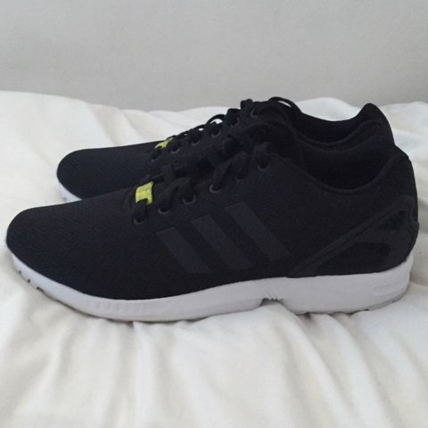 c6865edeb Brand new black and white ZX flux worn once. UK Size 11!! to - Depop