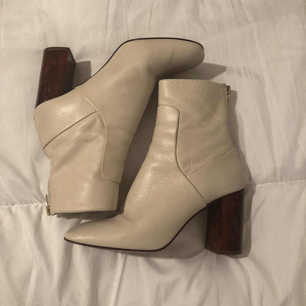 Beautiful cream leather boots from