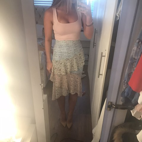 2b97b6de0ff Selling this beautiful ruffle floral pink blue missguided by - Depop
