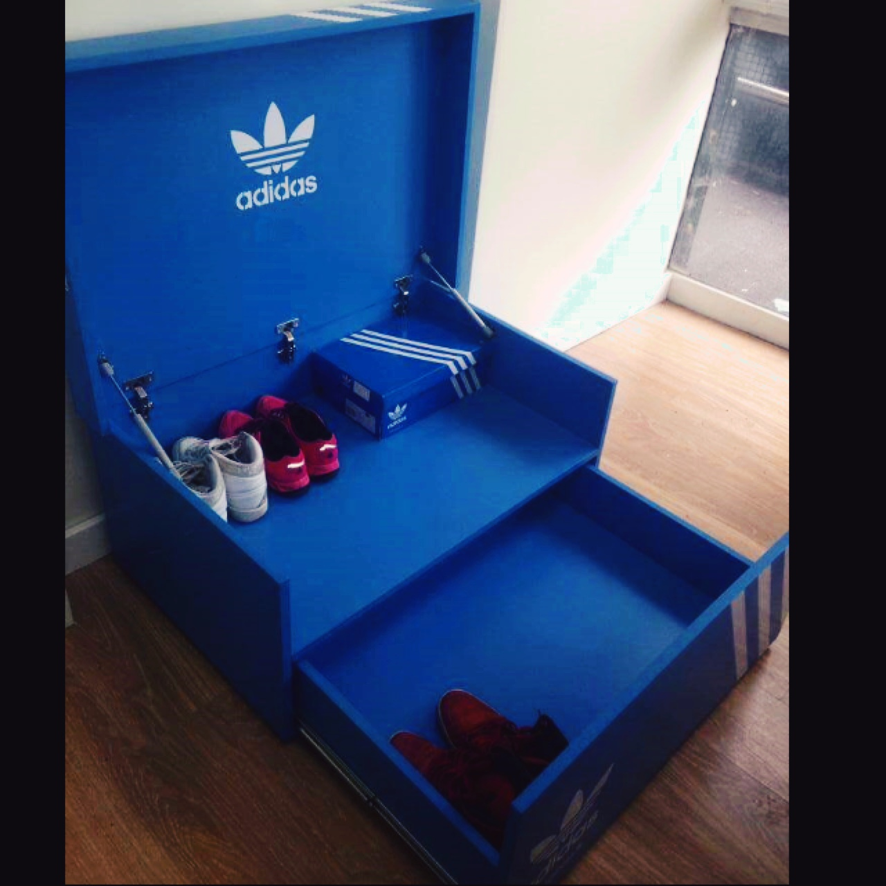 Adidas Shoe Box Stores around 16 pairs of shoes....