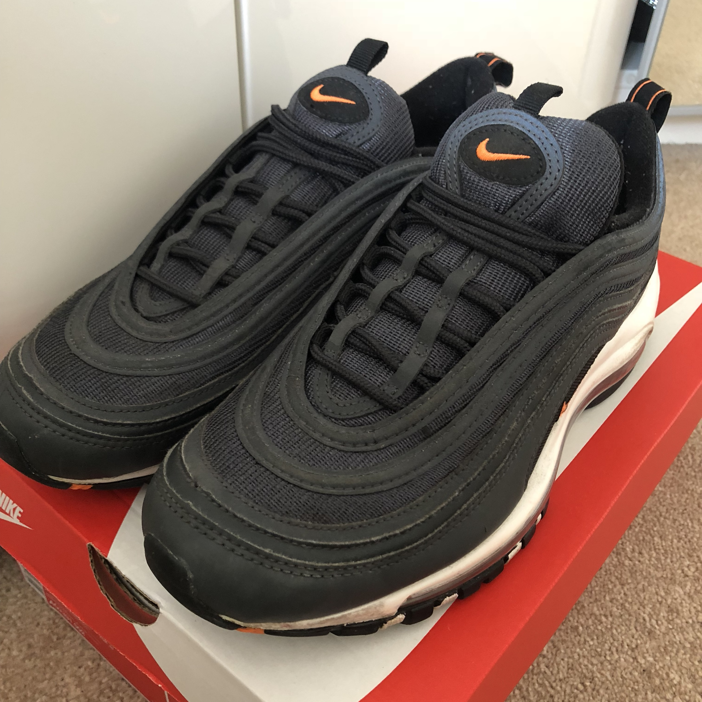 Nike Air Max 97 Anthracitetotal Orange Black Depop
