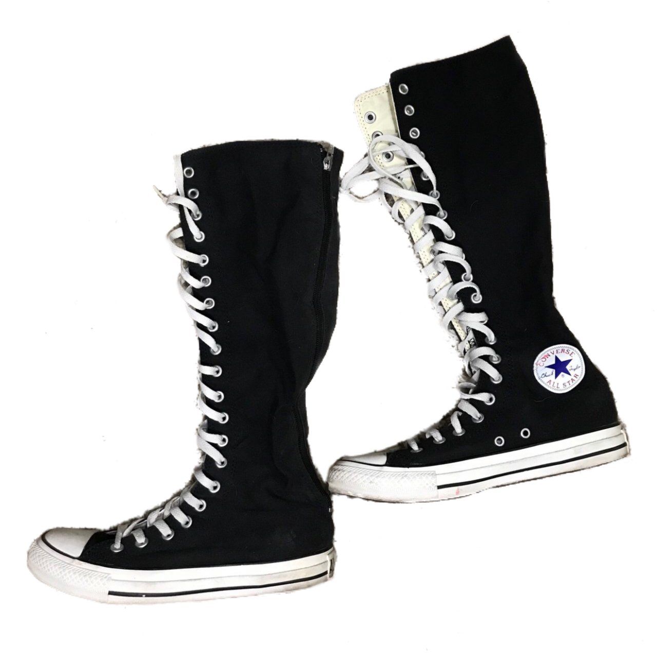 c7dc0807d2dce9 Converse black boots. They tie up like a regular sneaker but - Depop