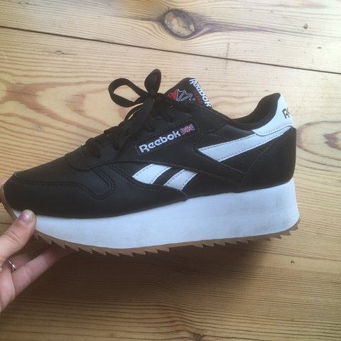 53bd1f2cbab Reebok classic double Brand new !! Perfect condition EU37 - Depop