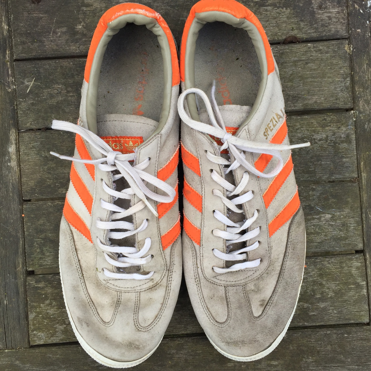 skate shoes website for discount new collection Adidas Spezial Grey/Orange Trainers HMU WITH LOWER... - Depop