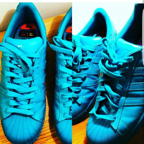 sale retailer 97a1c 16581  mikeyc23. last year. Burland, Nantwich, United Kingdom. Adidas Superstar  pharrell in turquoise ...