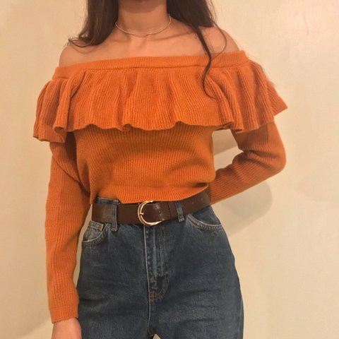 4adf4e1d314 Reduced brand new Forever21 mustard / tan / orange knit top. - Depop