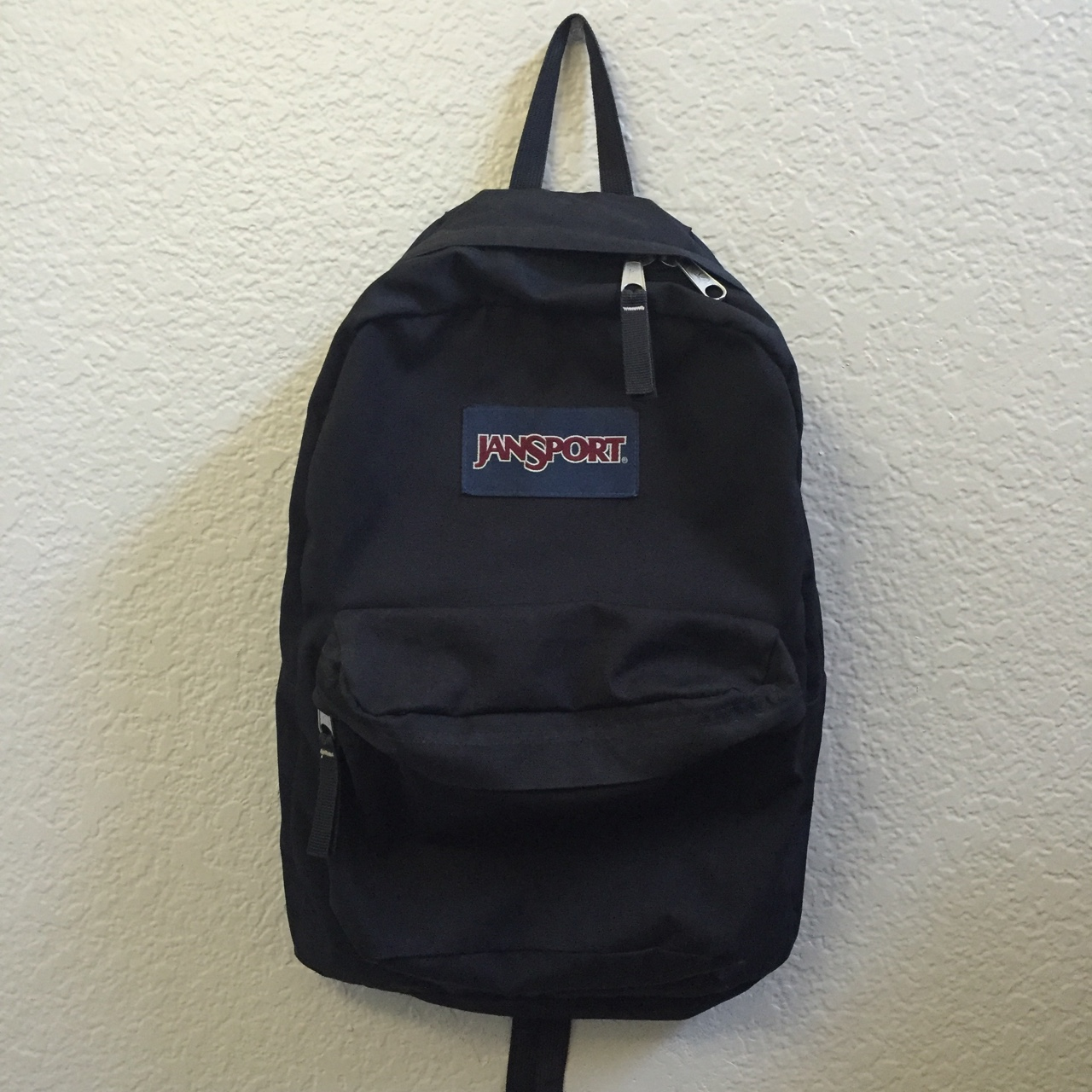 Black classic jansport backpack perfect for back to    - Depop