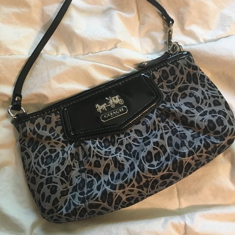 ce5f00aff4c8 Genuine small leopard coach bag! In excellent condition