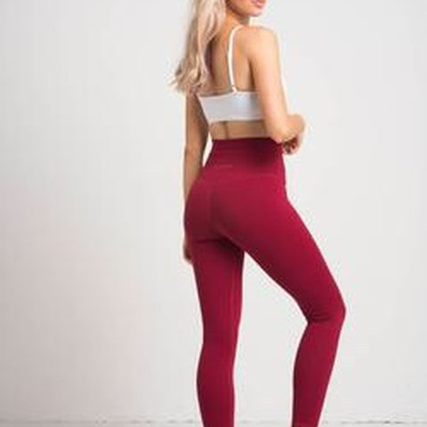 d9b2da90e25d5f FLEXXFIT cranberry leggings XS only worn once !! i just have - Depop