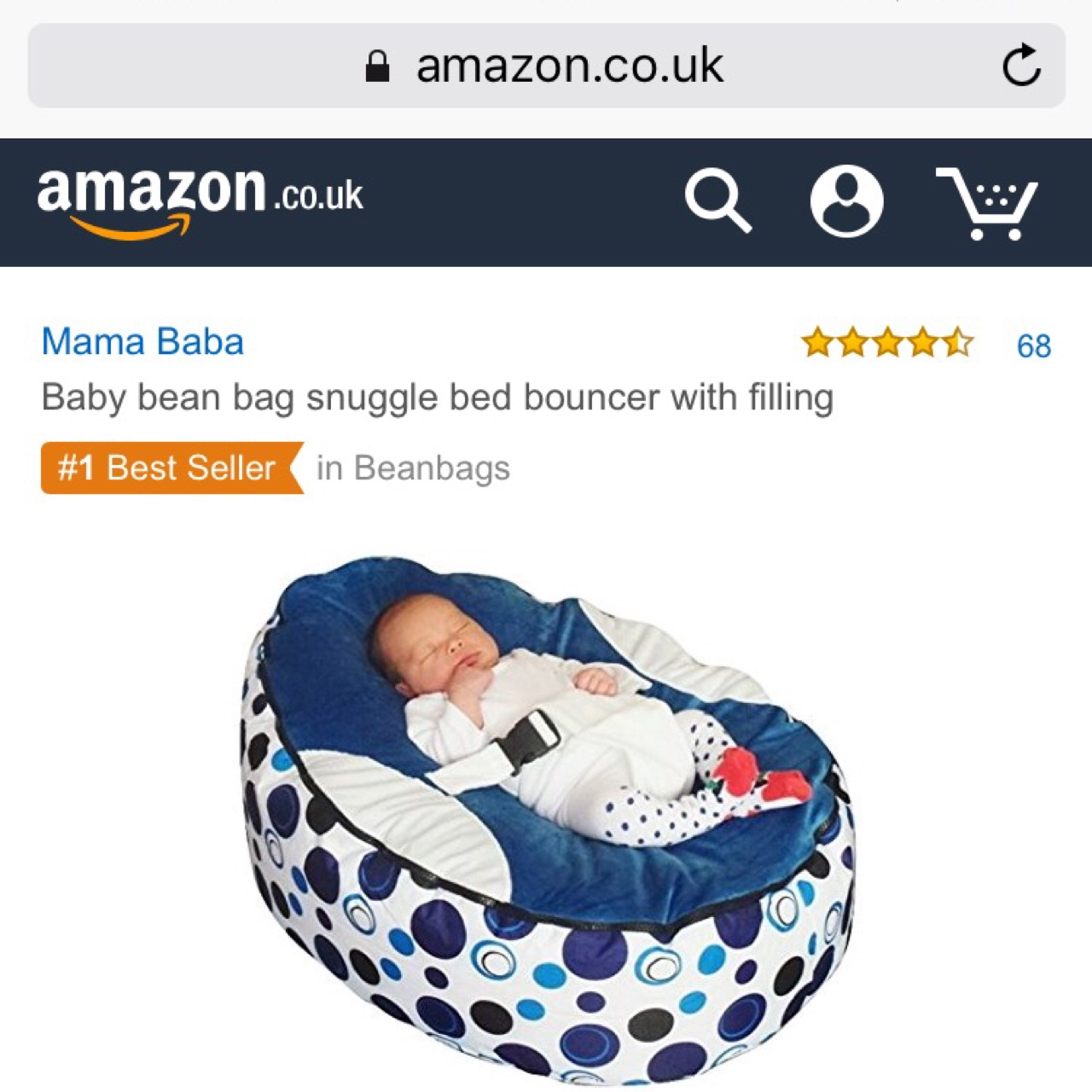Amazing Reduced 25 Brand New Baby Bean Bag Depop Bralicious Painted Fabric Chair Ideas Braliciousco