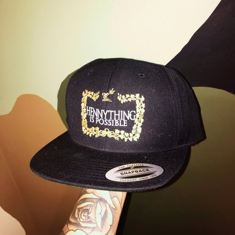 1f76f6a8 Hennything is possible SnapBack - Depop