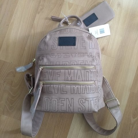 c1ff199fbf Steve Madden pink nude mini backpack brand new with tags - Depop