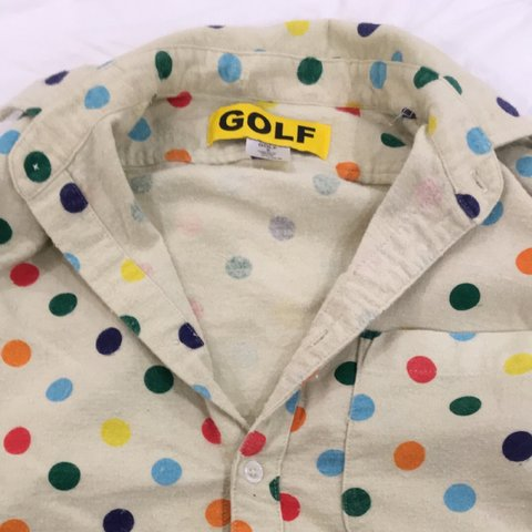 bd45f6e4009c5c Golf wang dotted shirt. This thing mad. Size small won t fit - Depop