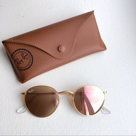 7e9ab1f006 Ray-ban round sunglasses(RB3447) in Copper Flash  Rose gold. - Depop