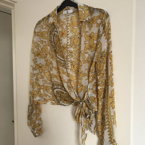 55aebba9b6b8a Missguided Wrap-Over shirt Blouse in Baroque print
