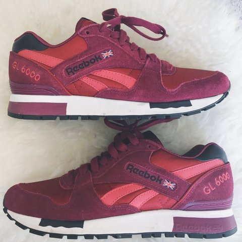 uk availability 8d7ce 61da8 Women s Reebok Classic GL 6000-Berry. Size 7.5. Worn 2-3 - Depop
