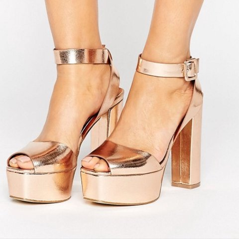 f5b8406aceb Rose gold heels Platform style bought from ASOS Worn once