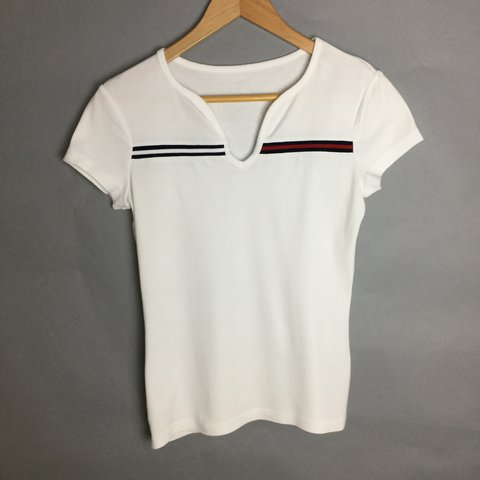 74c7bccb @cottonshopolis. 2 years ago. Manchester, UK. Tommy Hilfiger white t-shirt  • classic ...
