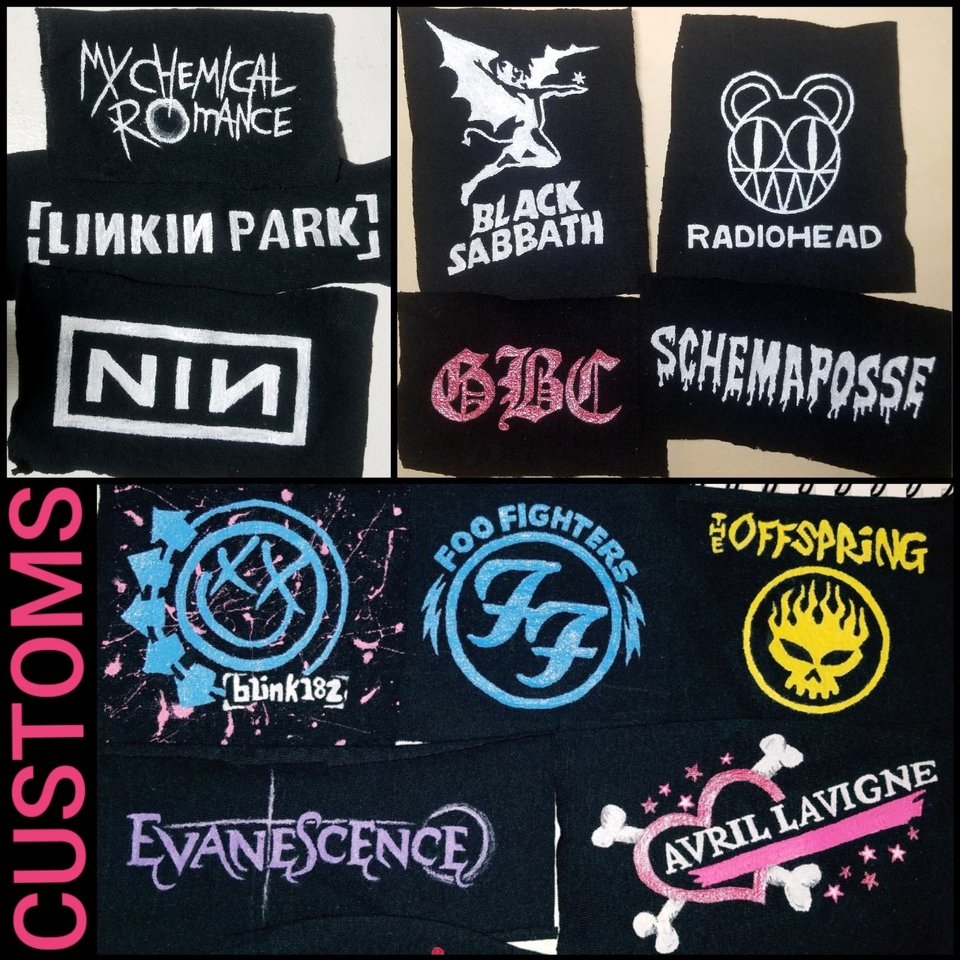🎸DIY CUSTOM Patches 🎸 》All Pre-Made (Shown in last    - Depop