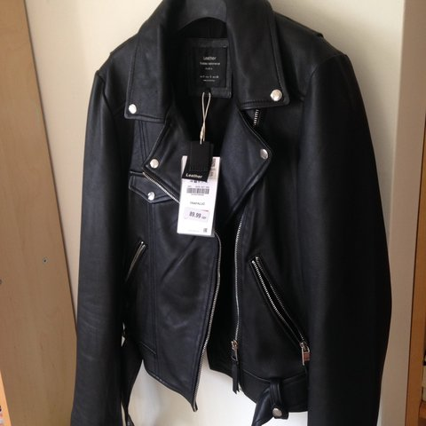 258925a78a @gaia_angelina. 5 months ago. Malvern, United Kingdom. Real leather black  biker jacket from Zara ...
