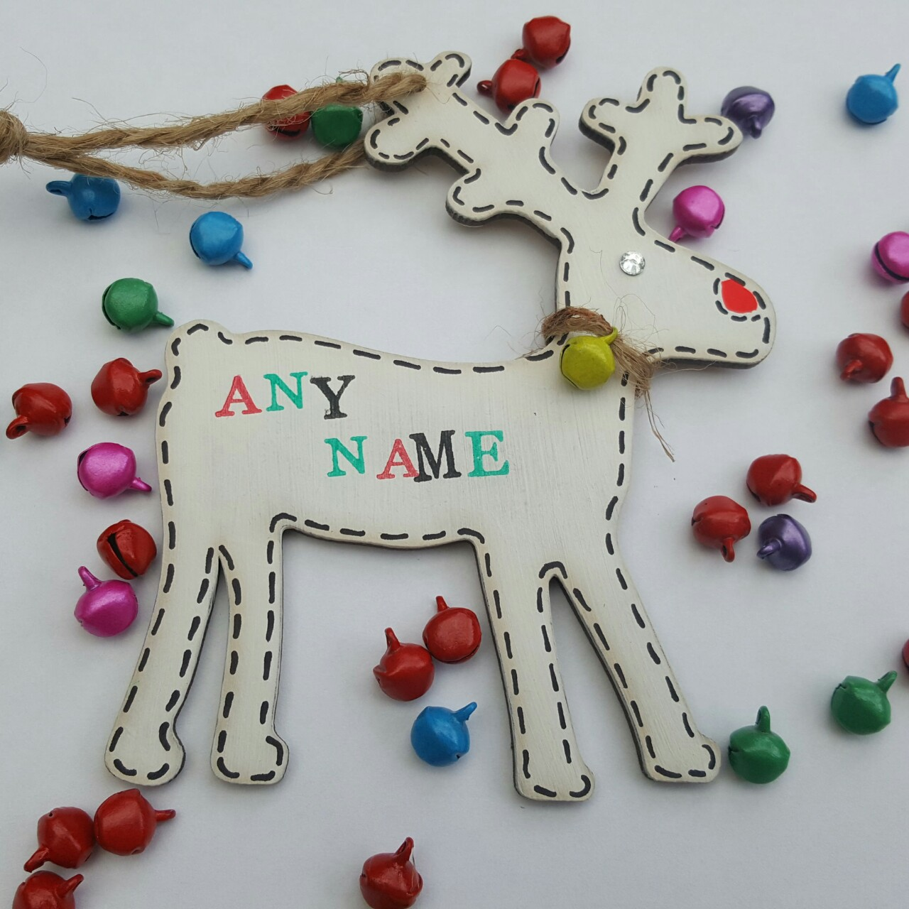 Personalised Beaded Christmas Ornament//Gift Tag