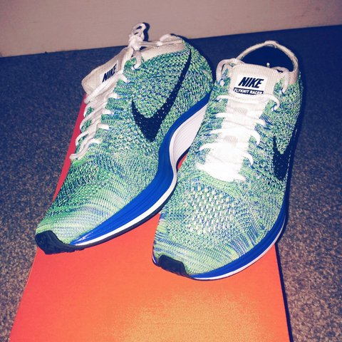 414e87b6d5c8c Nike flyknit racer. Tranquil. Size 7. Open to offers. SOLD - Depop